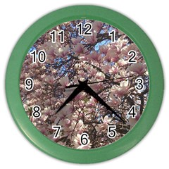 Sakura Wall Clock (color) by DmitrysTravels