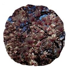 Sakura 18  Premium Round Cushion  by DmitrysTravels