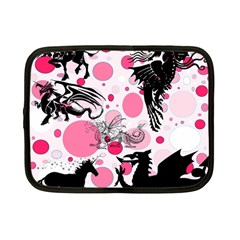 Fantasy In Pink Netbook Sleeve (small) by StuffOrSomething