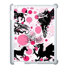 Fantasy In Pink Apple Ipad 3/4 Case (white)