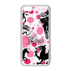 Fantasy In Pink Apple iPhone 5C Seamless Case (White) by StuffOrSomething