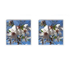 Cherry Blossoms Cufflinks (square) by DmitrysTravels