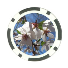 Cherry Blossoms Poker Chip by DmitrysTravels