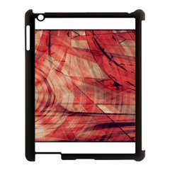 Grey And Red Apple Ipad 3/4 Case (black) by Zuzu