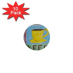 Kaffe Painting 1  Mini Button (10 Pack) by StuffOrSomething