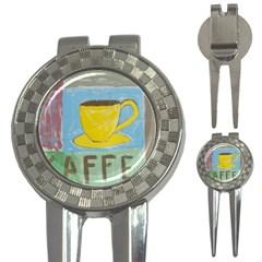 Kaffe Painting Golf Pitchfork & Ball Marker by StuffOrSomething