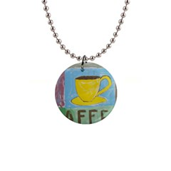 Kaffe Painting Button Necklace by StuffOrSomething