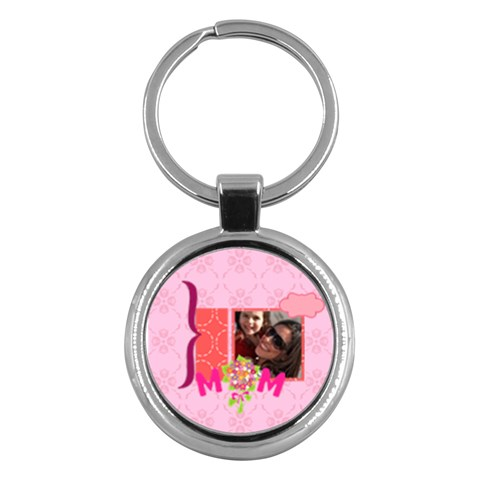 Mothers Day By Mom   Key Chain (round)   Ti98rhr042wl   Www Artscow Com Front