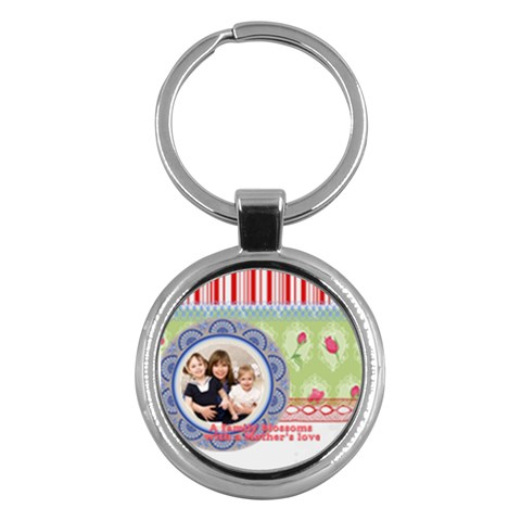 Mothers Day By Mom   Key Chain (round)   Ym9z8rd5mqmx   Www Artscow Com Front