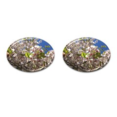Cherry Blossoms Cufflinks (Oval)