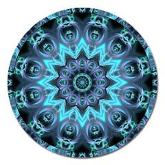 Star Connection, Abstract Cosmic Constellation Magnet 5  (round) by DianeClancy