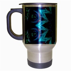 Star Connection, Abstract Cosmic Constellation Travel Mug (silver Gray) by DianeClancy