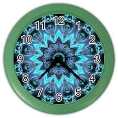 Star Connection, Abstract Cosmic Constellation Wall Clock (color) by DianeClancy