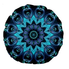 Star Connection, Abstract Cosmic Constellation 18  Premium Round Cushion  by DianeClancy