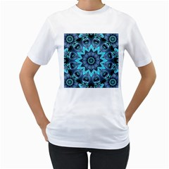 Star Connection, Abstract Cosmic Constellation Women s T Shirt (white)  by DianeClancy
