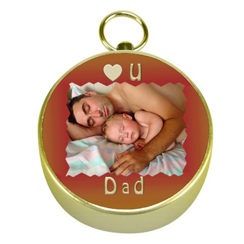 Love You Dad Gold Compass By Deborah   Gold Compass   Exzjz8c9lkax   Www Artscow Com Front