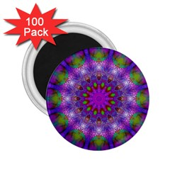 Rainbow At Dusk, Abstract Star Of Light 2.25  Button Magnet (100 pack) by DianeClancy