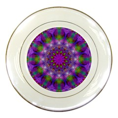 Rainbow At Dusk, Abstract Star Of Light Porcelain Display Plate by DianeClancy