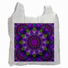 Rainbow At Dusk, Abstract Star Of Light White Reusable Bag (two Sides) by DianeClancy