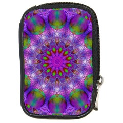 Rainbow At Dusk, Abstract Star Of Light Compact Camera Leather Case by DianeClancy