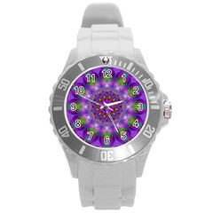 Rainbow At Dusk, Abstract Star Of Light Plastic Sport Watch (large) by DianeClancy