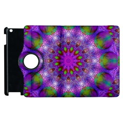 Rainbow At Dusk, Abstract Star Of Light Apple Ipad 2 Flip 360 Case by DianeClancy