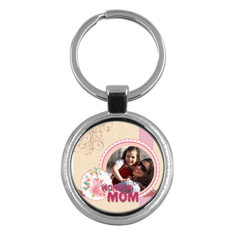 Mothers Day By Mom   Key Chain (round)   1cq54no75y7j   Www Artscow Com Front