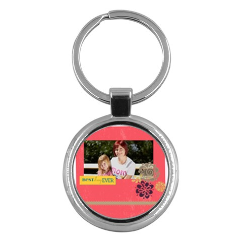 Mothers Day By Mom   Key Chain (round)   Bs3k7lw25ajc   Www Artscow Com Front