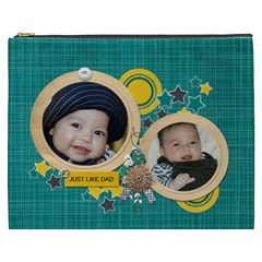 Cosmetic Bag (xxxl): Just Like Dad By Jennyl   Cosmetic Bag (xxxl)   Po3u6x7y9pdc   Www Artscow Com Front
