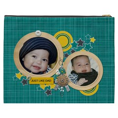 Cosmetic Bag (xxxl): Just Like Dad By Jennyl   Cosmetic Bag (xxxl)   Po3u6x7y9pdc   Www Artscow Com Back