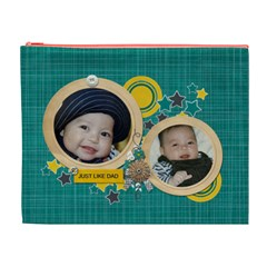 Cosmetic Bag (xl): Just Like Dad By Jennyl   Cosmetic Bag (xl)   O0ly4m4v2gc9   Www Artscow Com Front
