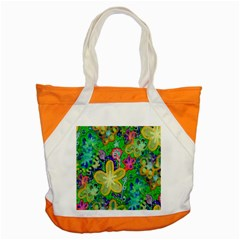 Beautiful Flower Power Batik Accent Tote Bag by rokinronda