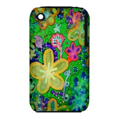 Beautiful Flower Power Batik Apple Iphone 3g/3gs Hardshell Case (pc+silicone) by rokinronda