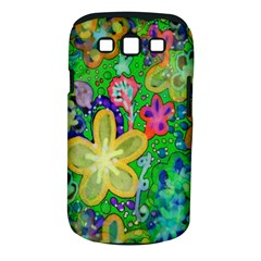 Beautiful Flower Power Batik Samsung Galaxy S Iii Classic Hardshell Case (pc+silicone) by rokinronda