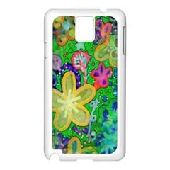 Beautiful Flower Power Batik Samsung Galaxy Note 3 N9005 Case (white) by rokinronda