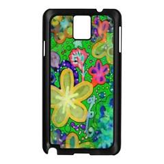 Beautiful Flower Power Batik Samsung Galaxy Note 3 N9005 Case (black) by rokinronda