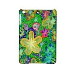 Beautiful Flower Power Batik Apple Ipad Mini 2 Hardshell Case by rokinronda