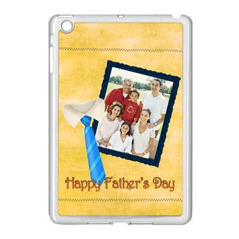 Fathers Day By Dad   Apple Ipad Mini Case (white)   Qa2slzmfro2x   Www Artscow Com Front