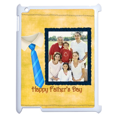 Fathers Day By Dad   Apple Ipad 2 Case (white)   Fxyve8x9dy09   Www Artscow Com Front