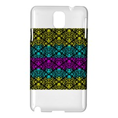 Cmyk Damask Flourish Pattern Samsung Galaxy Note 3 N9005 Hardshell Case
