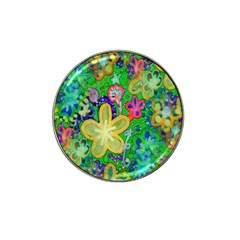 Beautiful Flower Power Batik Golf Ball Marker 4 Pack (for Hat Clip) by rokinronda
