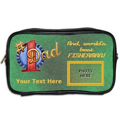 Fishing Dad s Toiletries Bag  By Joy Johns   Toiletries Bag (two Sides)   W91y6o0ozurj   Www Artscow Com Back
