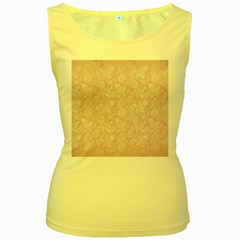 Elegant Vintage Paisley  Women s Tank Top (Yellow)