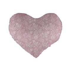 Elegant Vintage Paisley  16  Premium Heart Shape Cushion  by StuffOrSomething