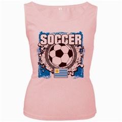 Soccer Uruguay Women s Pink Tank Top by MegaSportsFan