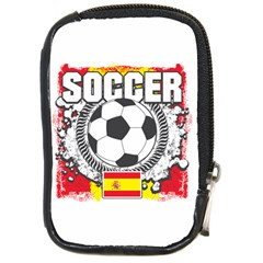 Soccer Spain Compact Camera Leather Case by MegaSportsFan