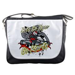 Lets Race Go Karts Messenger Bag