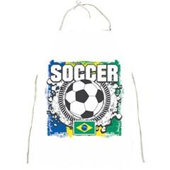 Soccer Brazil Full Print Apron by MegaSportsFan