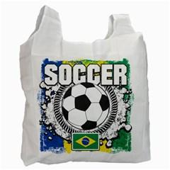 Soccer Brazil Recycle Bag (Two Side) by MegaSportsFan