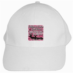 Ribbons Bows Pink Camo Country Girls White Cap by RedneckGifts
